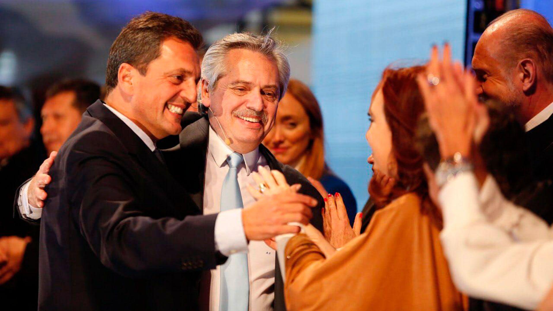 Alberto Fernández, Cristina Fernández de Kirchner y Sergio Massa
