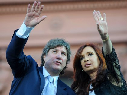 Amado Boudou junto a la entonces presidenta Cristina Kirchner (NA)