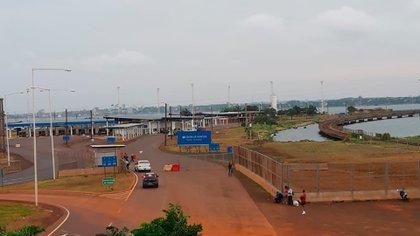 El centro de frontera entre Argentina y Paraguay