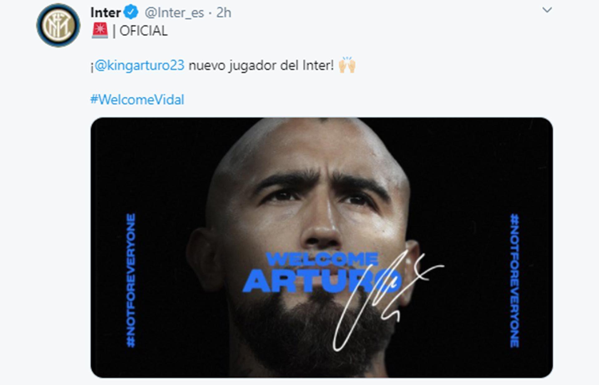 ARTURO VIDAL AL INTER