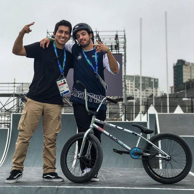 "El ""Malingo"" Torres dio el golpe en free style BMX masculino (Foto: Instagram / @malignobmx)"