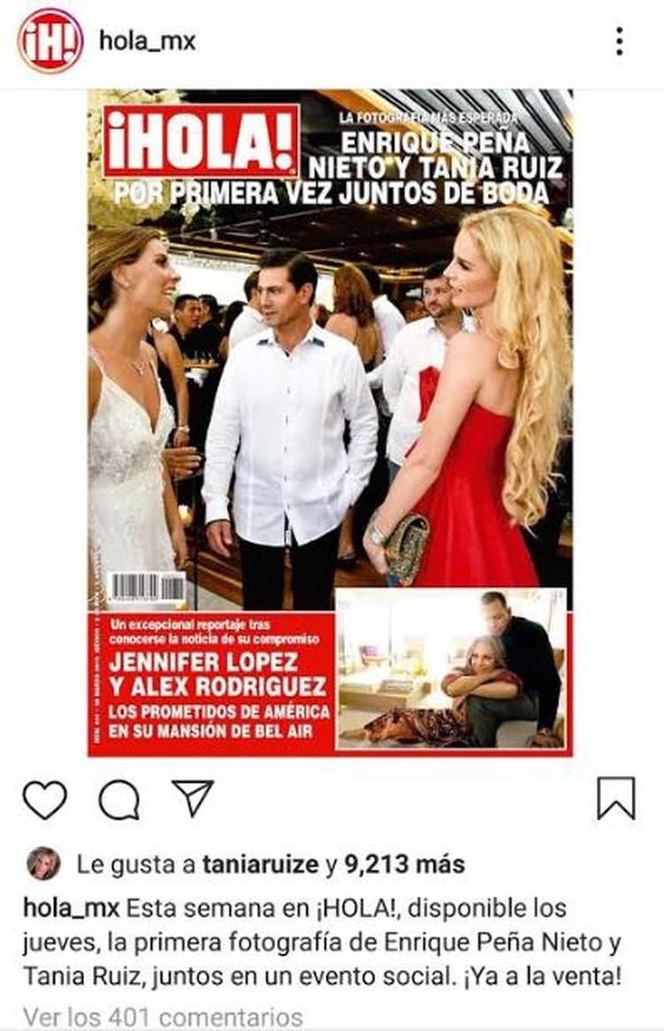 Esta portada fue publicada ayer por el medio mexicano en Instagram y ya cuenta con 401 comentarios y 9,213 reacciones, incluyendo la de la propia Tania Ruiz (Foto: Instagram)