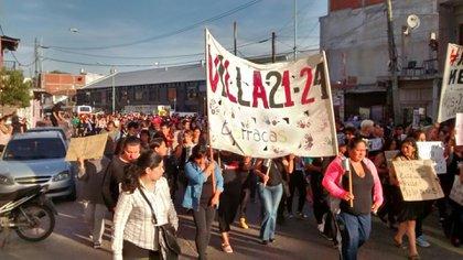 Marcha por el caso en la Villa 21-24 (Frente Popular Darío Santillán)