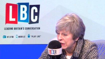 Theresa May respondió preguntas de oyentes de la radio LBC