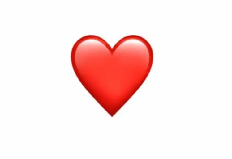 El popular emoji del corazón rojo.