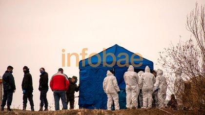 El cadáver de Fabián Gutiérrez fue hallado en una vivienda del barrio Aeropuerto Viejo, de El Calafate (Alejandro Capelli)