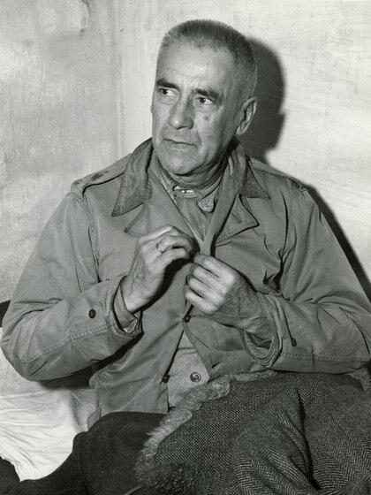 Wilhelm Frick en su celda en noviembre de 1945 (United States Army Signal Corps photographer - Harvard Law School Library, Harvard University)