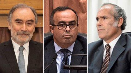 Leopoldo Bruglia, Pablo Bertuzzi y Germán Castelli, los tres jueces desplazados por el Gobierno