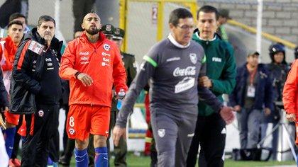 El partido terminó con la bronca de los jugadores chilenos (Reuters)