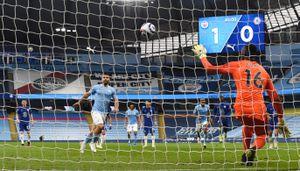 Error clave del Kun Agüero en Manchester City-Chelsea: la soberbia definición en un penal que enfureció a Guardiola