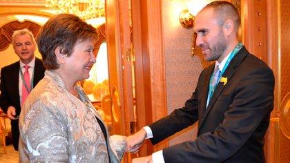 El ministro Guzmán y  Kristalina Georgieva, directora gerente del FMI