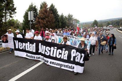 La marcha por la paz partió a finales de enero de Cuernavaca, Morelos. (Foto: MARGARITO PÉREZ RETANA/CUARTOSCURO)
