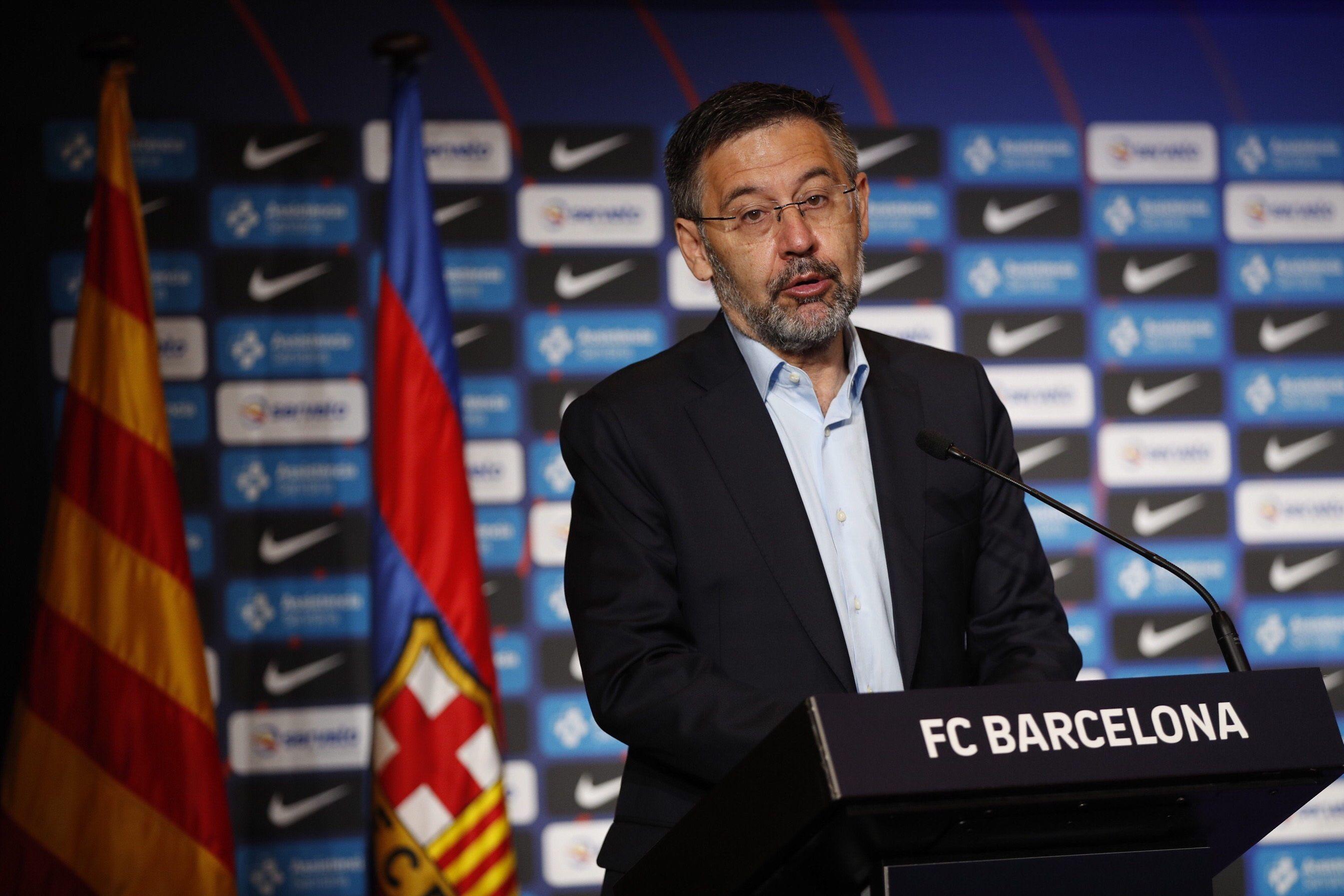 El presidente del Barcelona habló antes de que el equipo afrontara el Trofeo Joan Gamper (EFE/Alejandro García)