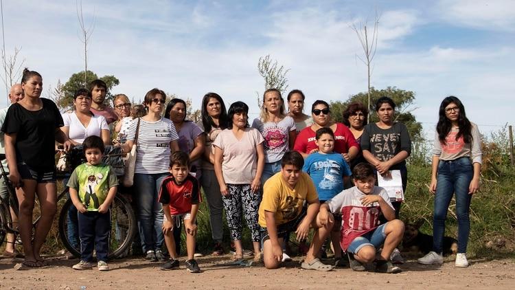 La comunidad del barrio Villa Alicia, víctima de los problemas de contaminación (Lihue Althabe)