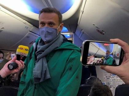 Alexei Navalny en su vuelta al país (REUTERS/Polina Ivanova)
