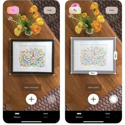 La herramienta Measure de iPhone emplea realidad aumentada.
