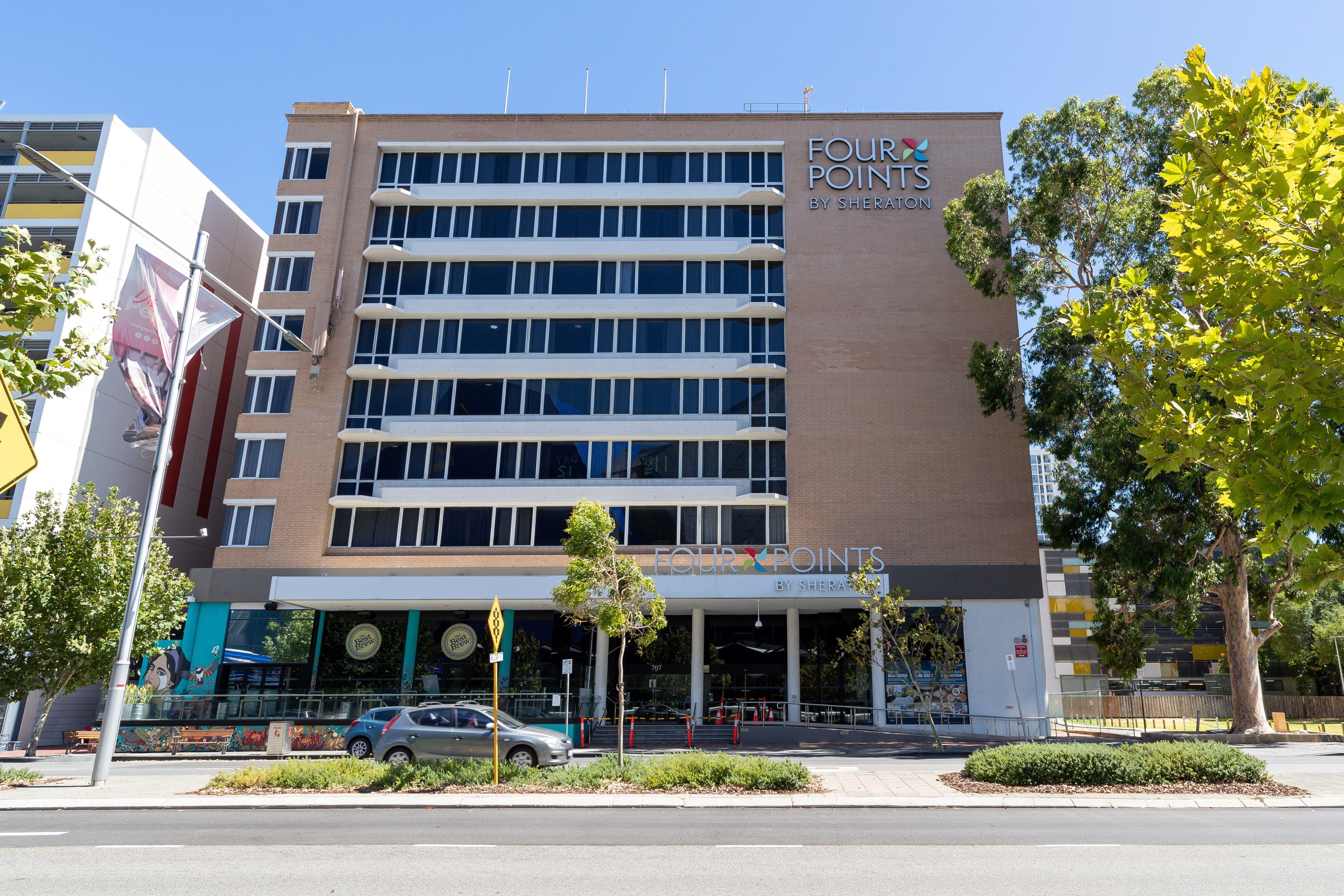 Fachada principal del hotel Four Points Sheraton de Perth, Australia. EFE/EPA/RICHARD WAINWRIGHT
