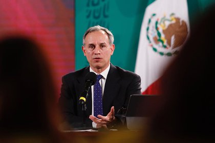 The undersecretary of Health and strategist of the Government of Mexico against covid-19, Hugo López-Gatell.  EFE / PRESIDENCY / EDITORIAL USE ONLY