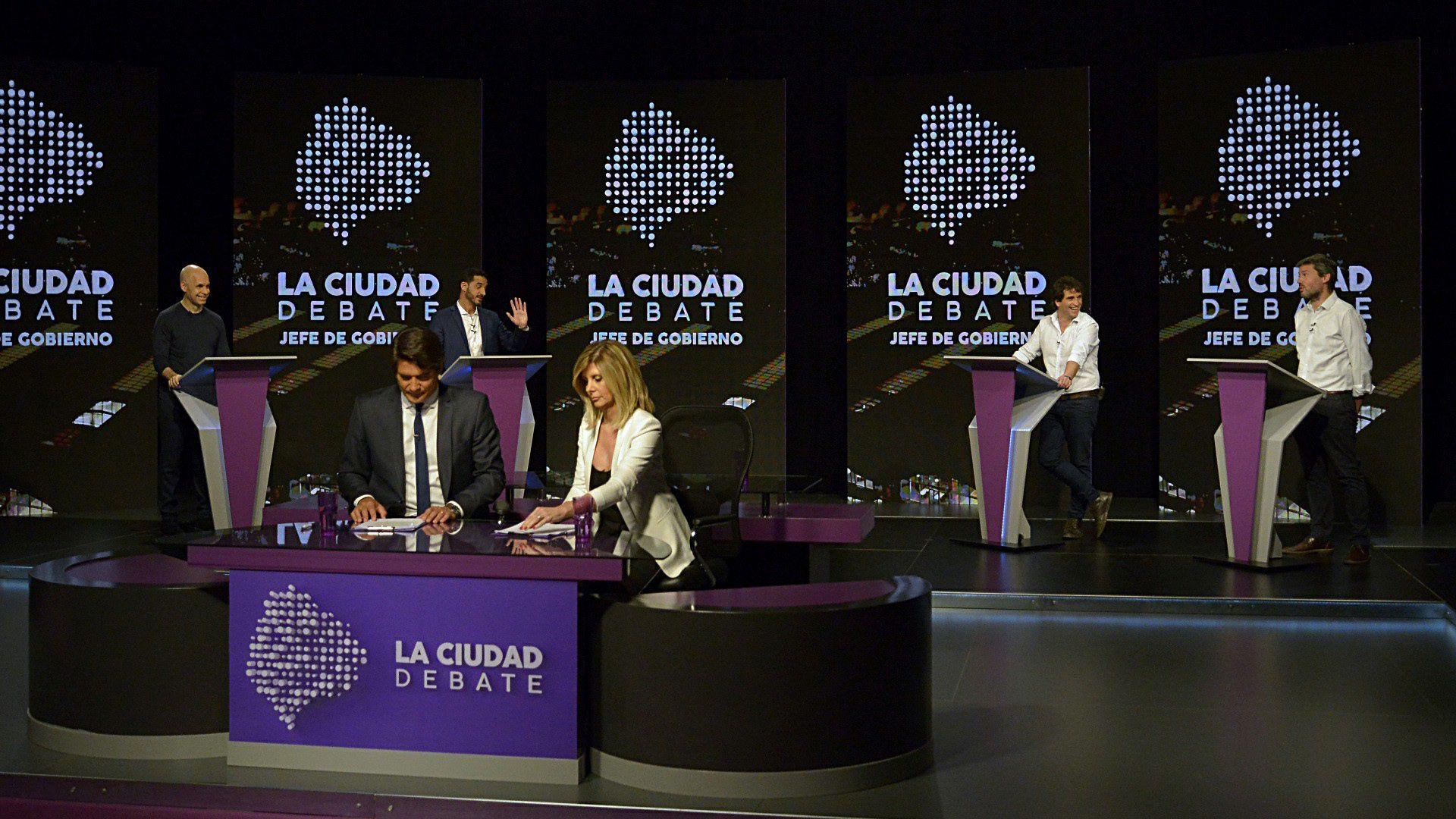 Anoche se realizó el debate de candidatos a jefe de Gobierno de la Ciudad. No hubo emociones. (Gustavo Gavotti)