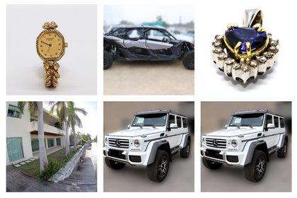 Vehículos de lujo, residencias y joyas han sido subastada para redirigirse a la administración pública (Foto: Especial)