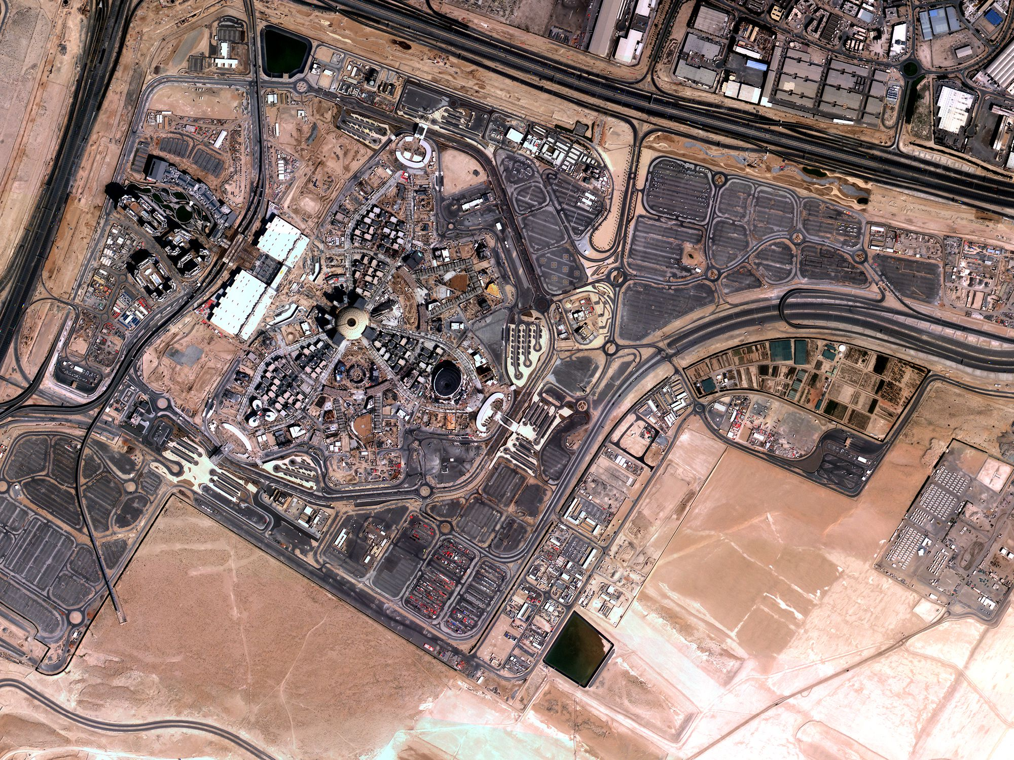Imagen de Dubia, Emiratos Árabes Unidos, tomada por satélites de Satellogic