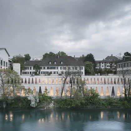 Finalista en la categoría de Edificio Cívico de los Premios Dezeen, Tanzhaus Zürich ha sido diseñado como un nuevo espacio público que dinamiza la zona a lo largo del río Limmat (Simon Menges)