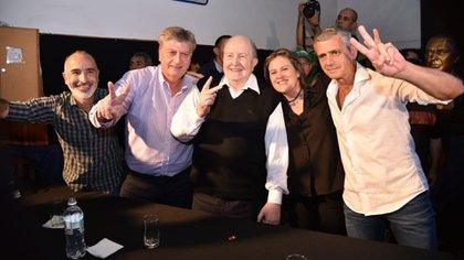 Sergio Ziliotto junto al gobernador pampeano Carlos Verna