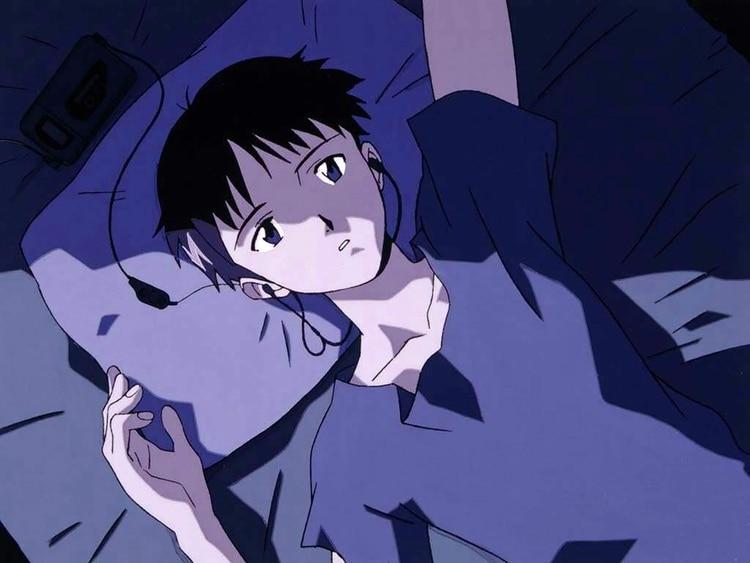 Shinji el introvertido protagonista