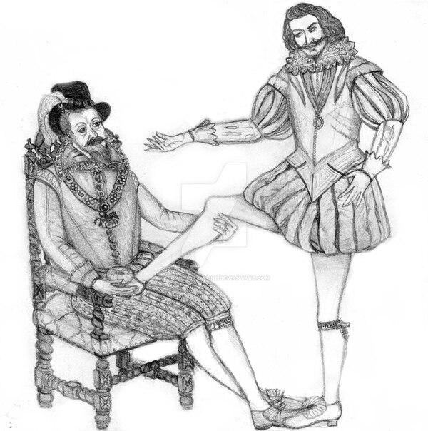James I mantuvo una fuerte relación afectiva con George Villiers, que fue ascendido a duque de Buckingham (Archivo)