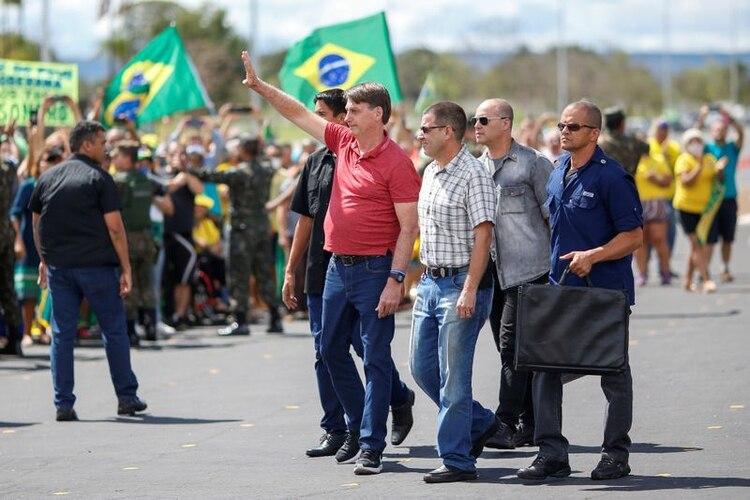Jair Bolsonaro participó de una manifestación en Brasilia (REUTERS / Ueslei Marcelino)