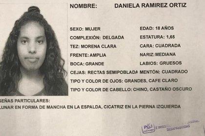 Daniela Ramírez fue raptada el 18 de mayo (Foto: Especial)