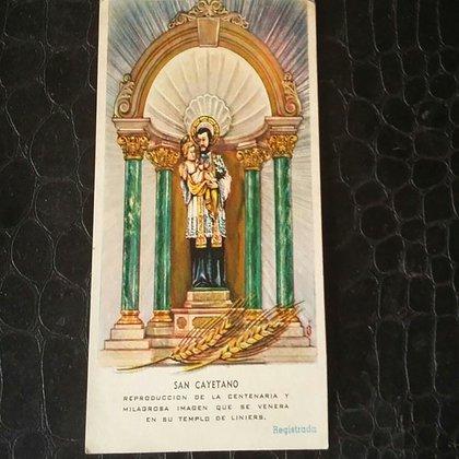 """Ilustracion de """"El santito"""" tal y como era el diseóo de su primer nicho que copiaba al del retablo mayor del templo, hoy desaparecido."""