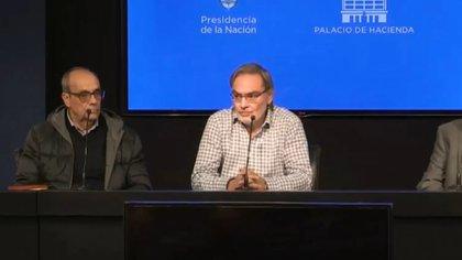 García Pereyra, de Transener, esta tarde junto al secretario de Energía, Gustavo Lopetegui