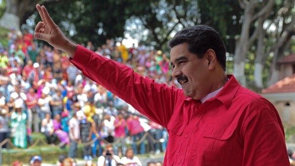 Nicolás Maduro, en su momento de mayor optimismo (AFP)