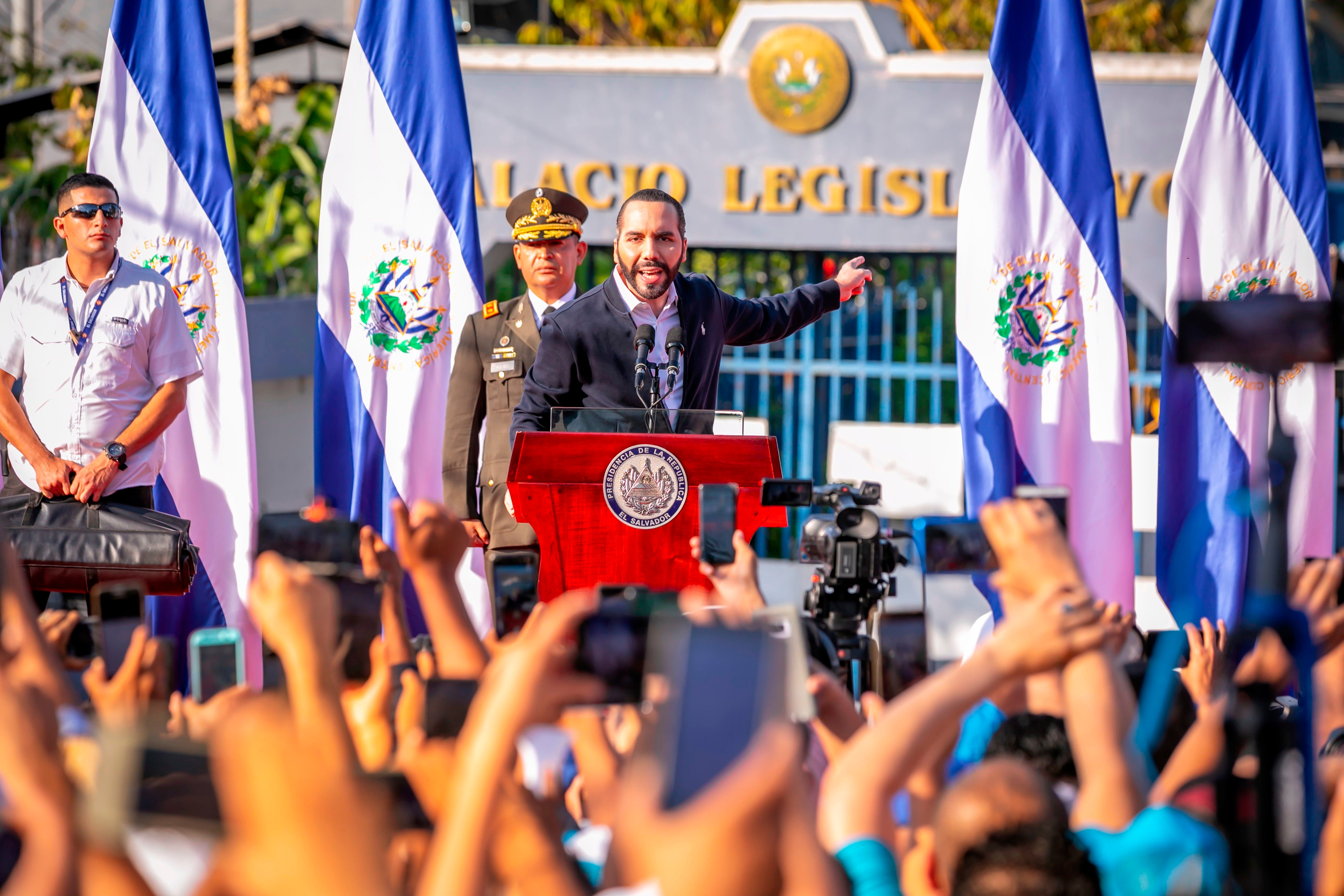 09-02-2020 El presidente de El Salvador, Nayib Bukele, frente a la Asamblea Legislativa POLITICA CENTROAMÉRICA EL SALVADOR INTERNACIONAL PRESIDENCIA DE EL SALVADOR