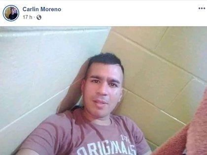 Carlos Moreno, condenado en 2013 por dispararle a Carolina Píparo, en una foto de su Facebook desde donde la amenazó