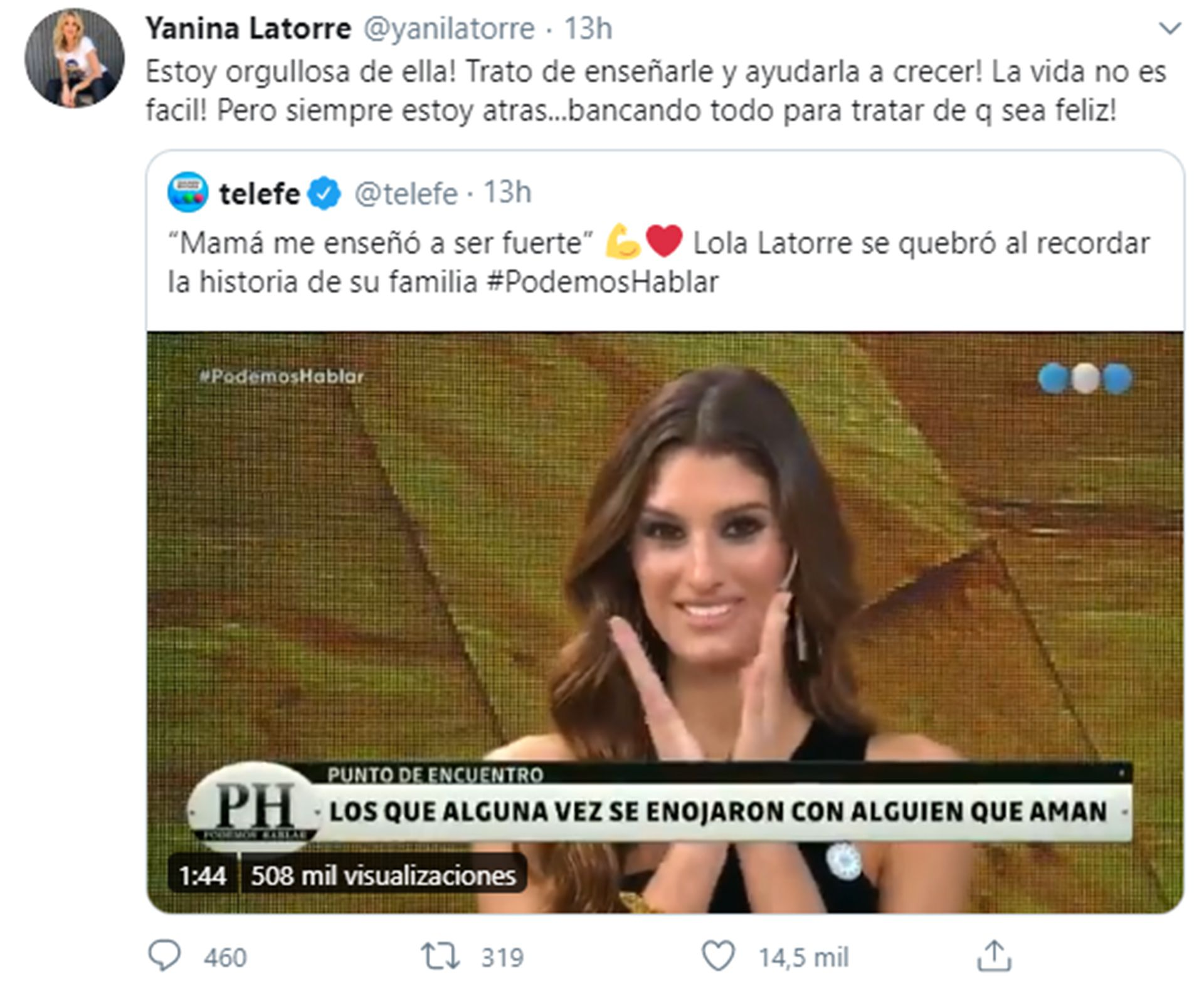 Tuit Yanina Latorre