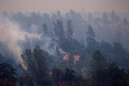 Vista del incendio en Redding (Reuters/ Bob Strong)