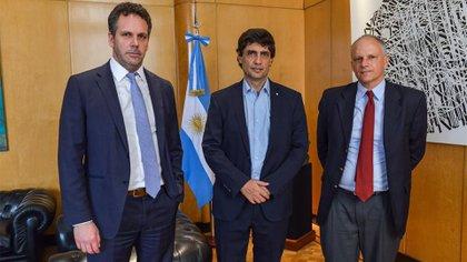 Guido Sandleris, Hernán Lacunza y Alejandro Werner en los últimos meses de mandato de Mauricio Macri.