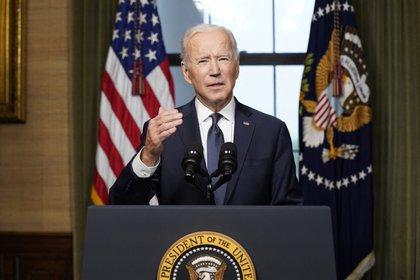 Joe Biden anunció un plan de asistencia alimentaria para más de 30 millones de menores de edad en EEUU (AP)