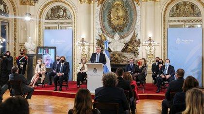 Alberto Fernández, el miércoles pasado, en la presentación de la reforma (Presidencia de la Nación)