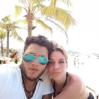 Leticia y Federico durante un viaje romántico