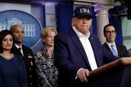 El presidente de los Estados Unidos, Donald Trump (REUTERS/Yuri Gripas)