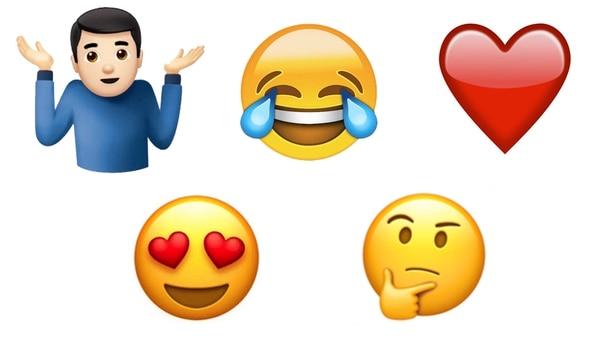 Los emojis más populares de 2017.