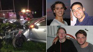 Video: iba alcoholizado, chocó su Audi contra una columna y murieron sus dos amigos