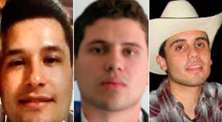 """Jesús Alfredo Guzmán, Iván Archivaldo y Ovidio Guzmán: tres de los hijos de """"El Chapo"""" (Foto: Archivo)"""