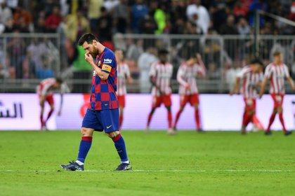 """Fue un golpe duro"", reconoció Lionel Messi al término del partido (REUTERS/Waleed Ali)"