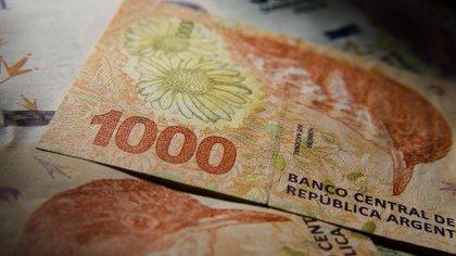 De 1.450 millones de billetes que salieron a circular durante la cuarentena, 315 millones fueron papeles de 1.000 pesos (Adrián Escandar)
