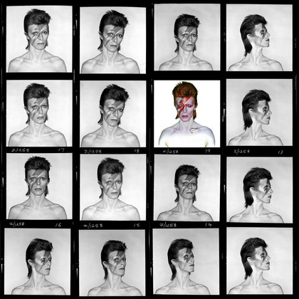 Contactos de Aladdin Sane, 1973. Photo Duffy © Duffy Archive & The David Bowie Archive