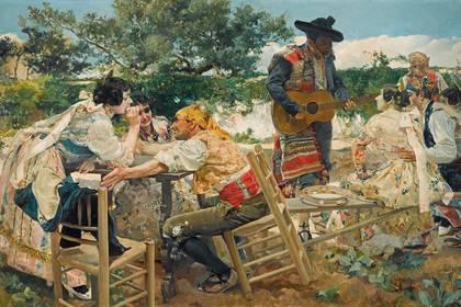"""Fiesta valenciana"", de Joaquón Sorolla, 1893"